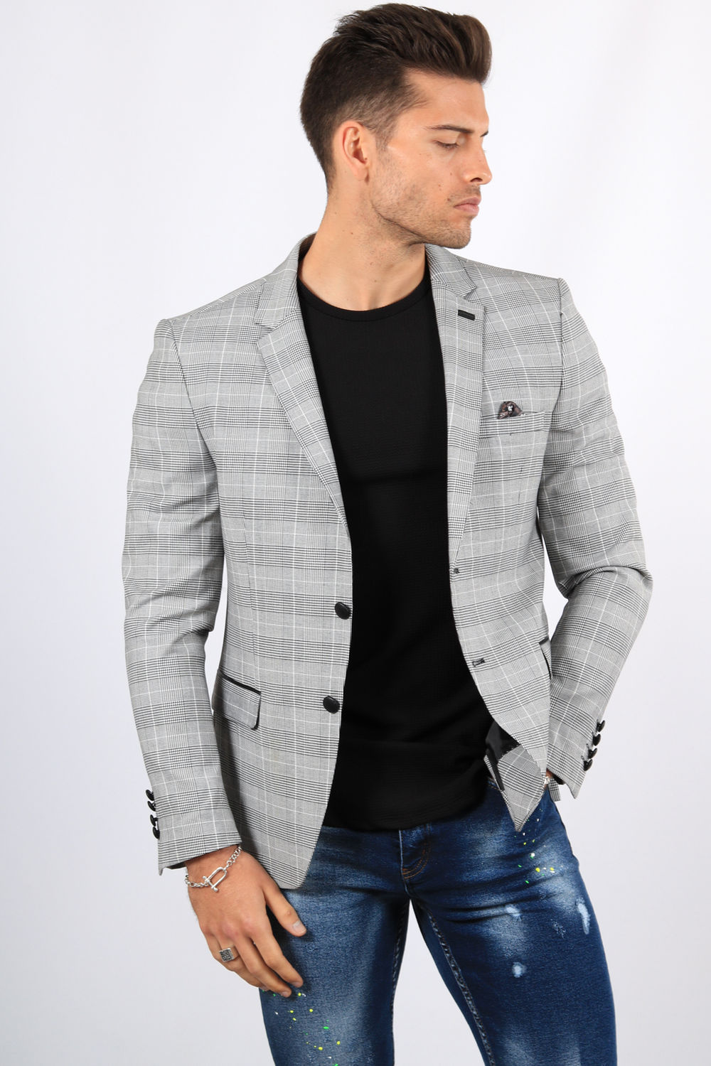 retail prices first rate sold worldwide blazer homme prince de galles 2261