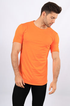 T-shirt oversize orange fluo kx14