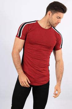 T-shirt oversize bordeaux 1808