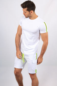 Ensemble t-shirt+short blanc 8002