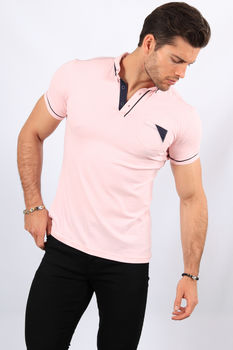 Polo homme rose 8787