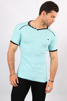 T-shirt homme bleu turquoise 2465