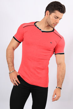 T-shirt homme rose 2465