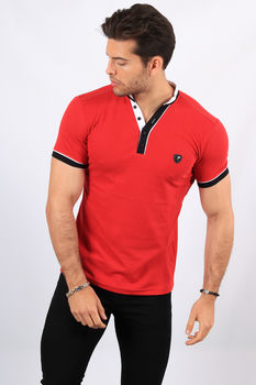 Polo homme rouge 8781