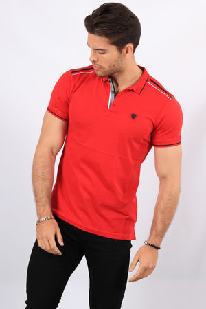Polo homme rouge  2424