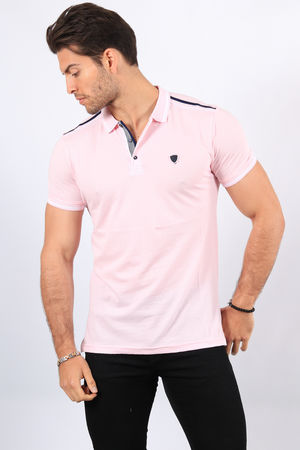 Polo homme rose  2424