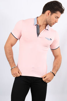 Polo homme rose 2369