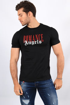 T-shirt  homme noir angels 376