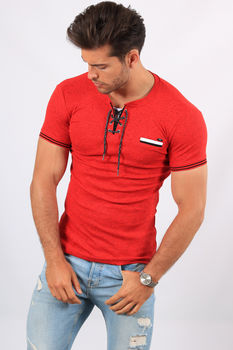 T-shirt  homme rouge 2464