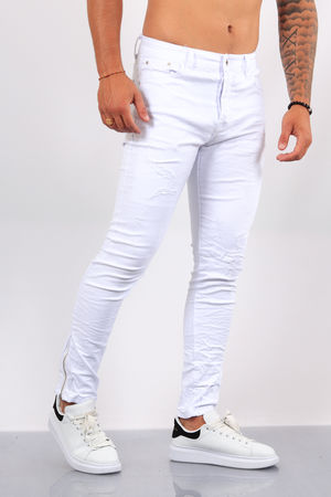 Jeans homme blanc skinny 72273