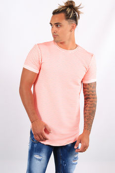 T-shirt homme rose fluo 401