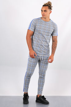 Ensemble t-shirt + pantalon  carreaux bleu G57/58