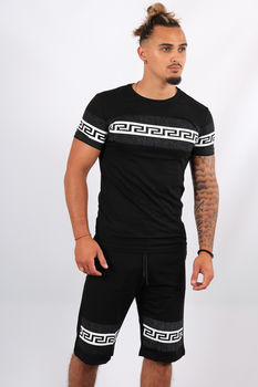 Ensemble t-shirt + short noir ES8