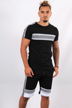 Ensemble t-shirt + short noir ES11