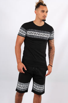 Ensemble t-shirt + short noir ES3