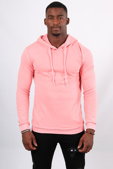 Sweat homme  à capuche rose 451