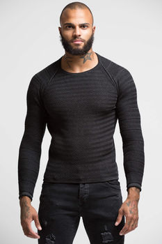 Pull homme gris antra  F586