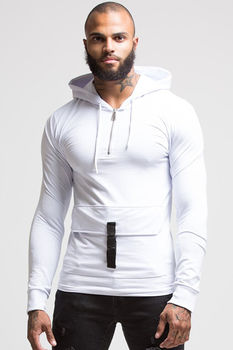 Sweat homme blanc capuche 657