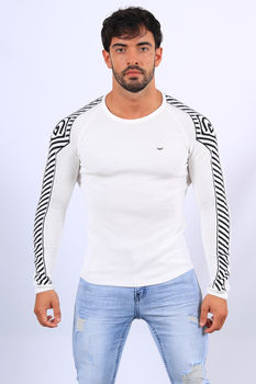 Pull homme blanc 2397