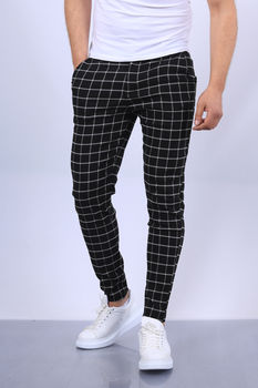 pantalon homme carreaux fri 1702