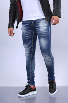 Jeans homme bleu clair skinny 72301