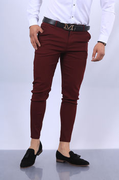 pantalon chino  homme bordo fri 1697