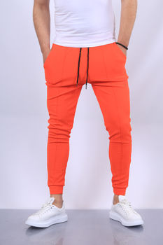 pantalon jogging homme orange fri 1717