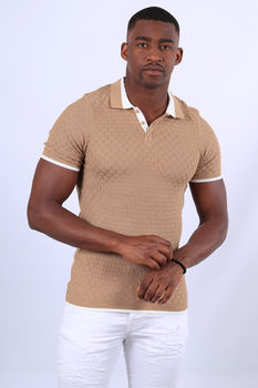 Polo homme marron 313