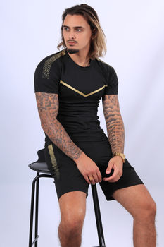 Ensemble t-shirt + short  noir/gold  90/1