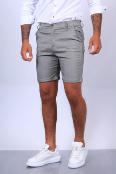 Short chino pour homme gris 1736