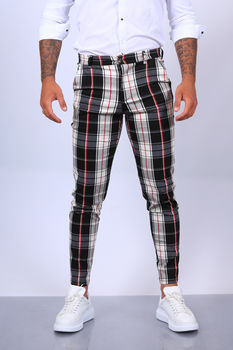 pantalon chino  homme carreaux 1766