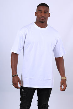 t-shirt homme blanc oversize 2653
