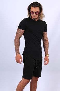 Ensemble t-shirt /short  noir up497