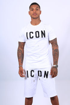 Ensemble t-shirt /short blanc icon  THL