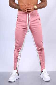 pantalon jogging  homme rose  1565