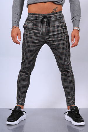pantalon homme à carreaux fri 25016