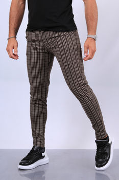 pantalon homme à carreaux fri 1856/2030