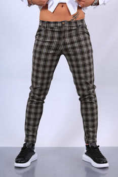 pantalon homme à carreaux fri 1856/2029
