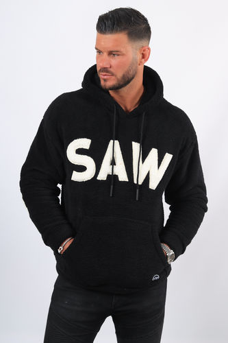 Sweat homme à capuche fourrure SAW