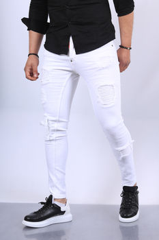 Jeans homme blanc  501