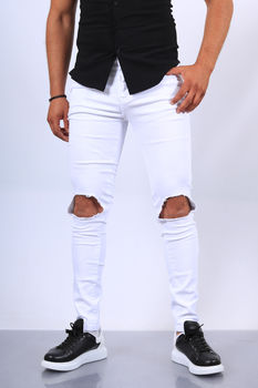 Jeans homme blanc  skinny 72297