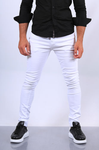 Jeans homme blanc  skinny 72295