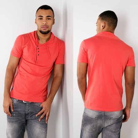 T-shirt homme fashion rose pastelle ca4039
