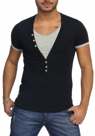 T-shirt bleu navy t 202