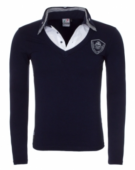 T-shirt pour homme col chemise navy 3001