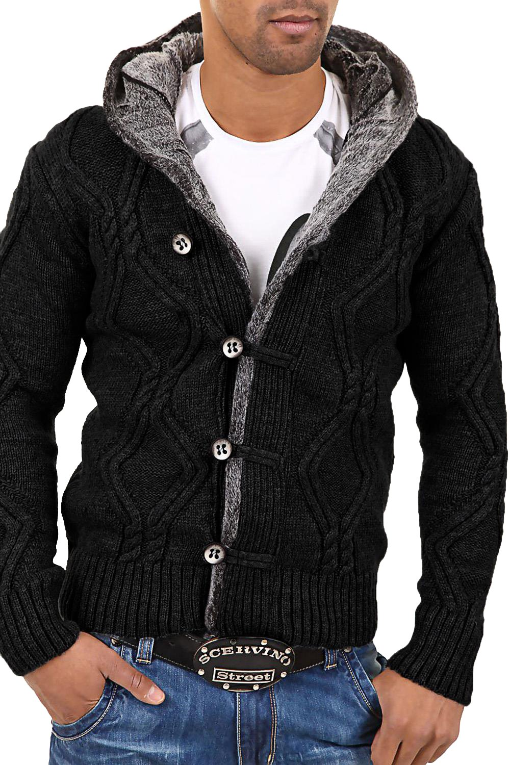 Veste Long Homme Noir Fashion