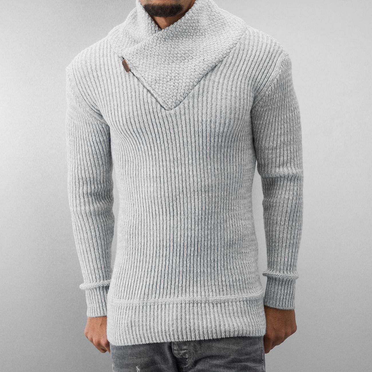 a1bd1431a91 Pull homme classe gris 7129