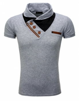 T-shirt homme fashion gris