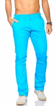 chino homme bleu turquoise
