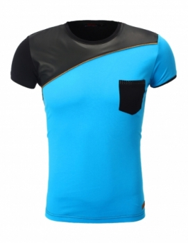 T-shirt homme fashion bleu ciel 151